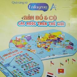Bộ đồ chơi Bản đồ và cờ thế giới Enfa