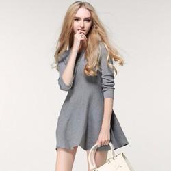 Đầm len xòe thời trang thu đông cao cấp 2016 - Q011