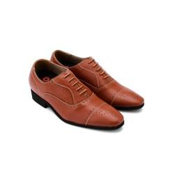 Giày tăng chiều cao Huy Hoàng màu da bò HH7182