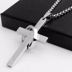 Dây chuyền thánh giá lồng nhẫn vĩnh cữu