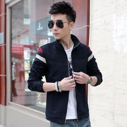 Áo khoác dù nam sọc tay phối màu KB064 xanh đen