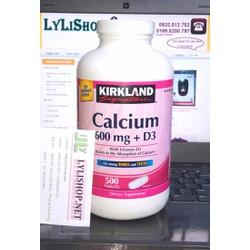 Calcium 600mg + D3 Hộp 500viên Hãng Kirkland - Chắc xương từ Mỹ 600 mg