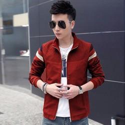 Áo khoác dù nam sọc tay phối màu KB064 đỏ