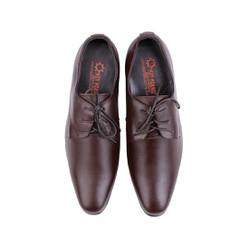 Giày nam tăng chiều cao Huy Hoàng cột dây màu nâu HH7716