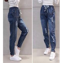 Quần jeans lưng thun rách Mã: QD1218
