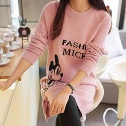 Áo len dáng dài chuột Mickey thời trang Hàn Quốc - D055