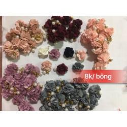 nails hoa hồng vải trang trí combos 2 cái