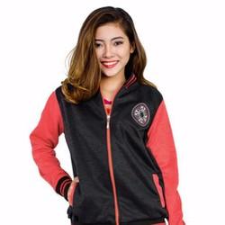 Áo Khoác Nỉ Nữ Phối Màu Đen Đỏ HOT - VPA1005