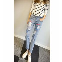 Quần jeans rách vảy mực cool Mã: QD1223