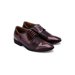 Giày tăng chiều cao Huy Hoàng màu nâu đất HH7181