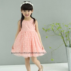 Đầm bé gái hàng nhập 3-7 tuổi D119