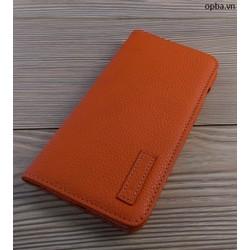 Bao Da IPHONE 7 Luxury Da Bò Made In Viet Nam Màu Cam