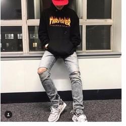 Áo hoodie nỉ đen  THRASHER