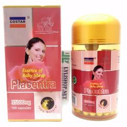 Costar Placentra 35000mg hộp 100 viên nhau thai cừu 35000 mg của úc