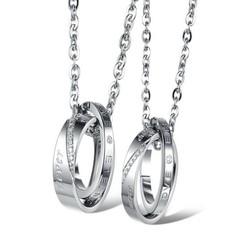 Mặt dây chuyền cặp tình nhân MDC312 Màu bạc bởi WINWINSHOP88