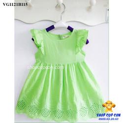Đầm kakte cánh tiên màu xanh mạ size 1-8