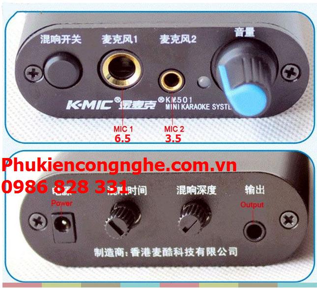 Bộ khuếch đại Micro có hỗ trợ tạo Echo K-Mic 501 1