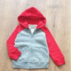 Áo khoác jumping beans BT màu ghi pha đỏ cho bé từ 2 đến 5 tuổi
