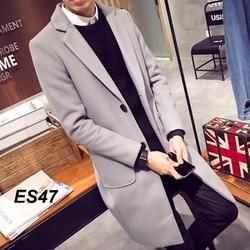 Áo khoác dạ măng tô thời trang nam cao cấp