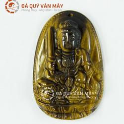 Dây chuyền Phật bản mệnh Văn Thù Bồ Tát đá Mắt hổ