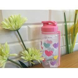 Bình nước họa tiết trái tim nhiều màu Hello Kitty- BN006