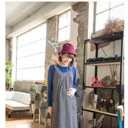 Đầm bầu dạng yếm chấm bi túi đôi cao cấp B22