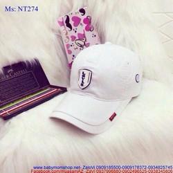 Mũ lưỡi trai nam nữ logo nổi phong cách NT274