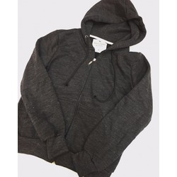 Áo hoodie nỉ dây kéo xám đậm