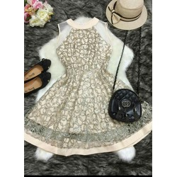 Đầm xoè kim sa cao cấp