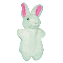 Rối tay thỏ trắng