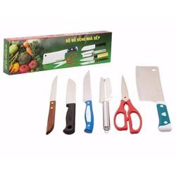 Bộ dao kéo làm bếp 6 món