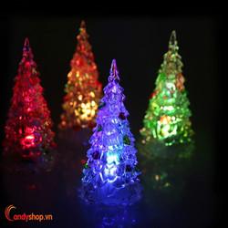 Đèn cây thông Noel đổi màu - quà tặng giáng sinh candyshop88.vn