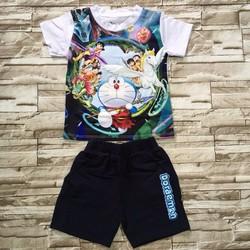 8-26kg Bộ thun in 3D Doraemon