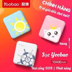 [CHÍNH HÃNG] SẠC DỰ PHÒNG YOOBAO 10400mAh - 2 CỔNG USB - PIN DỰ PHÒNG