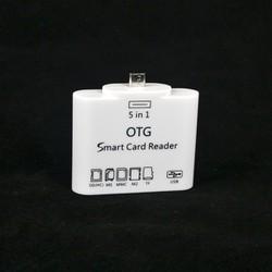 Đầu đọc thẻ OTG Smart Card Reader 3in1 cho Android