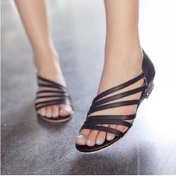Sandal 6 quai chéo DV220 - Màu đen