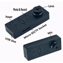 Camera ngụy trang nút áo chụp hình quay phim