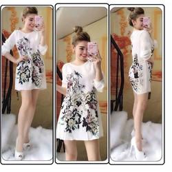 Đầm suông in 3D cao cấp