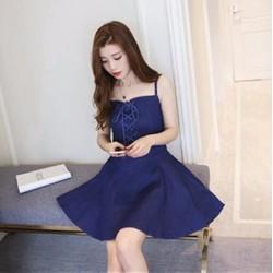 Đầm Jean Xòe Phối Dây Quyến Rũ - DTP1112