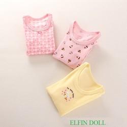 Bộ 3 áo dài tay ELFIN DOLL Nhật Bản