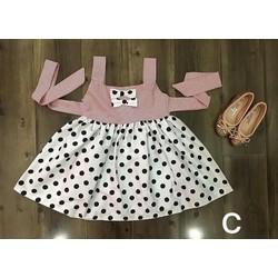 Đầm chấm bi dễ thương cho bé gái 12-25kg