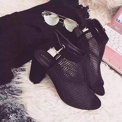 Giày boot nữ phối lưới - LN1025