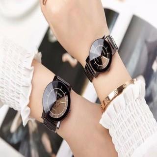 Đồng hồ cặp KASIQI dây thép sang trọng - 2134545 thumbnail