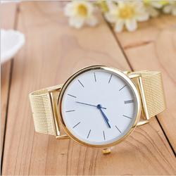 Đồng hồ đeo tay thời trang Cao cấp Unisex U1 Màu vàng