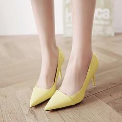 Giày cao gót thời trang phối da rắn - LN1026