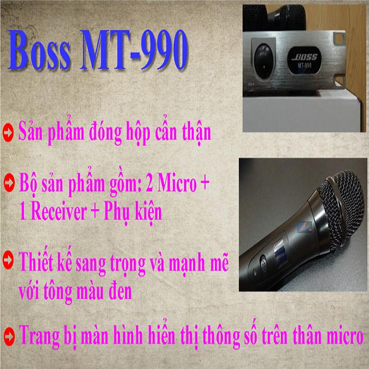 Micro MT-990 Không Dây Cao Cấp Chống Hú 6