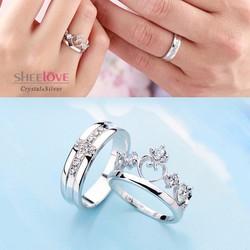 Nhẫn đôi Hoàng Tử Công Chúa free size xinh xắn SPR-JZ006