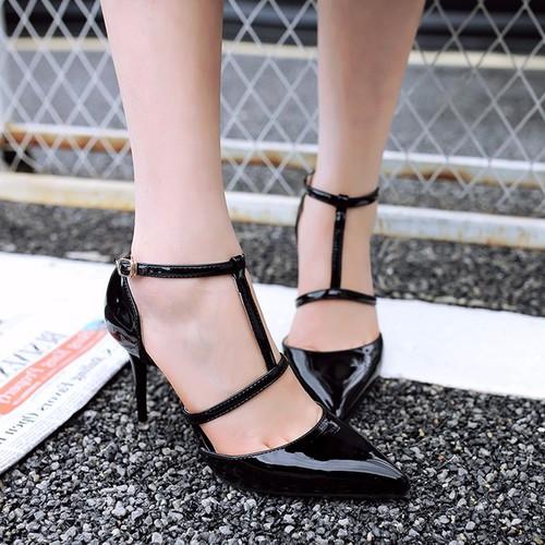 Giày cao gót quai cài chữ T kiểu mới - 4120028 , 4610254 , 15_4610254 , 330000 , Giay-cao-got-quai-cai-chu-T-kieu-moi-15_4610254 , sendo.vn , Giày cao gót quai cài chữ T kiểu mới
