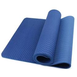 Thảm tập Yoga TPE 8mm 1 lớp - Xanh dương - Tặng túi đựng thời trang