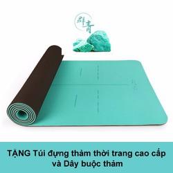 Thảm tập Yoga cao cấp Hatha xanh - Tặng 1 túi thời trang